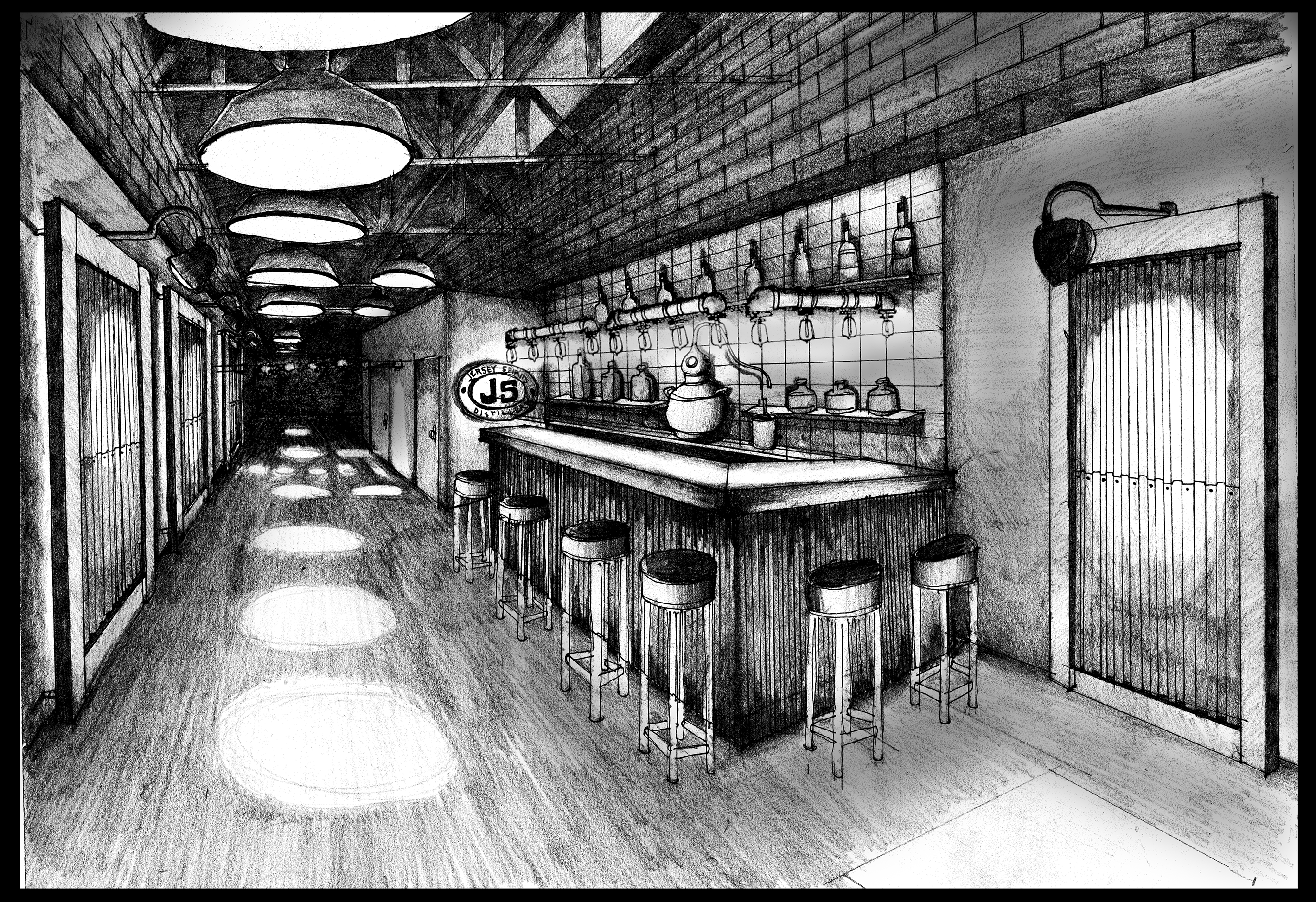 Original artist rendering of our Tasting Room